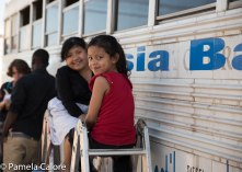 Two little girls Visiting the Shelters in Tijuana